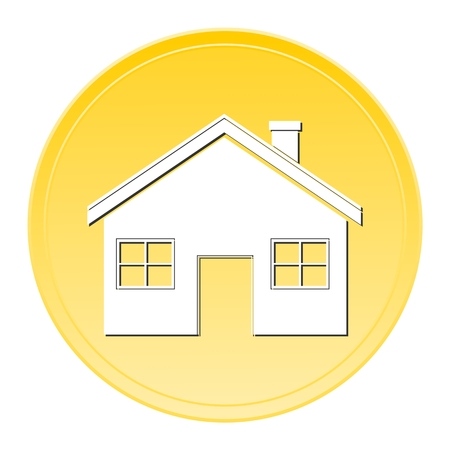 gold house: House gold button