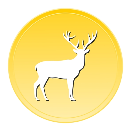 western theme: Deer Gold Icon