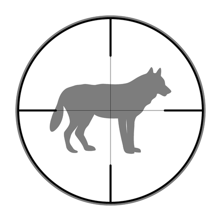 Hunting Season with Wolf in gun sight