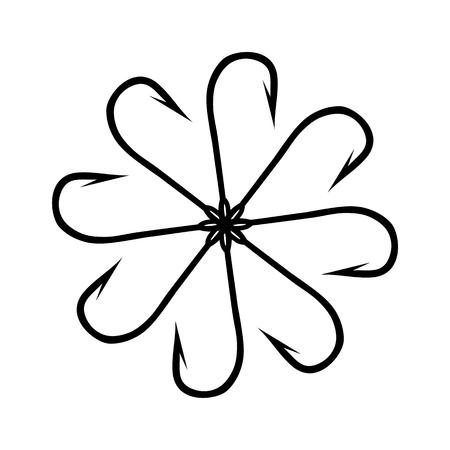 fishing hook: Fishing Hook Flower