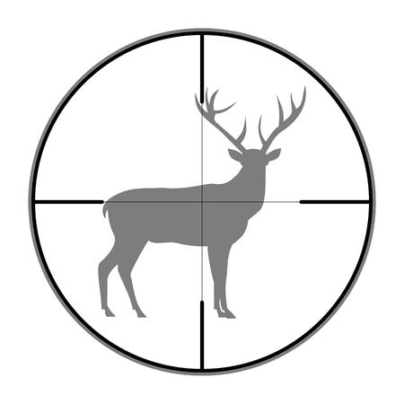 huntsman: Hunting Season with Deer in gun sight Illustration