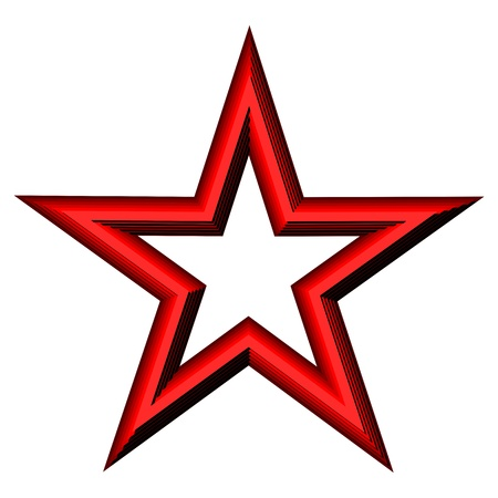 red star: Red Star isolated on white background Illustration