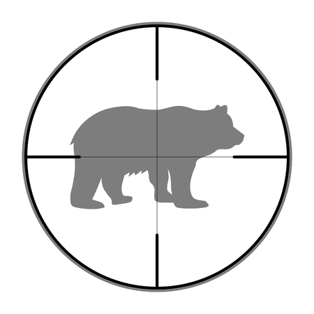 finder: Hunting Season with Bear in gun sight Illustration