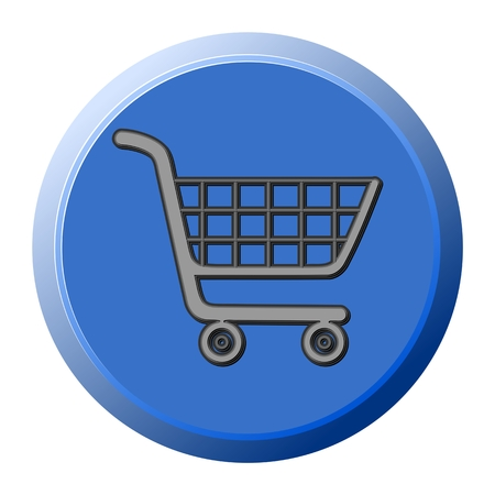 supermarket cart: Supermarket cart 3d