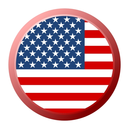 united state: United State of America flag on button