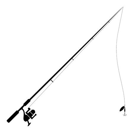 Canne à pêche isolé sur blanc