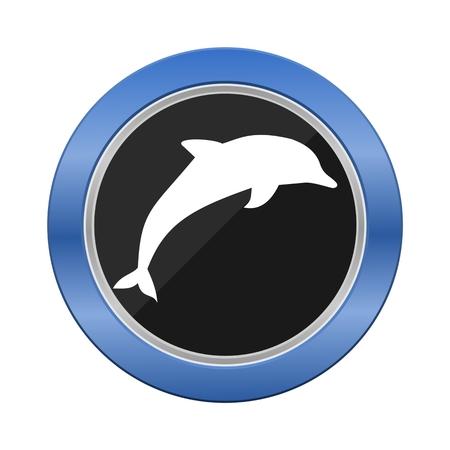 blue button: Dolphin Blue Button
