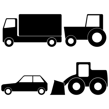 car loader: Truck, Tractor, Car and Loader