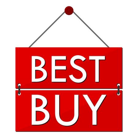 at best: Best Buy Red Sign Illustration