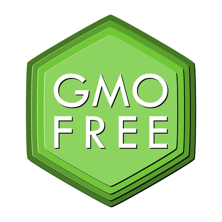 genetically modified crops: GMO Free Icon Illustration