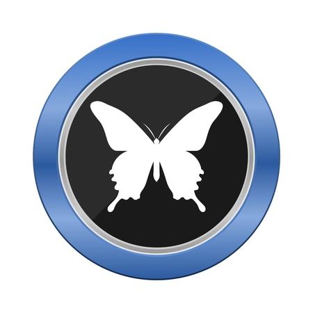 blue button: Butterfly Blue Button