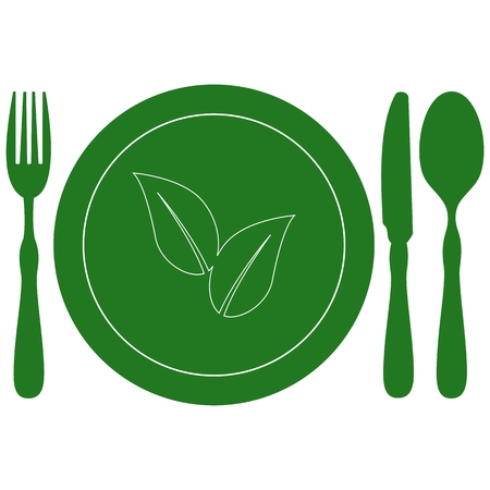 food plate: Healthy Food plate with leaves