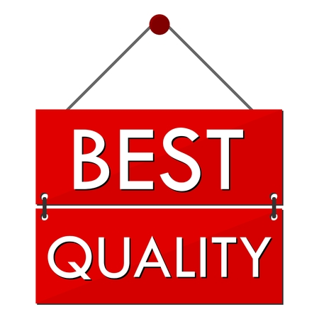 best quality: Best Quality Red Sign Illustration
