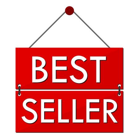 favorite number: Best Seller Red Sign Illustration