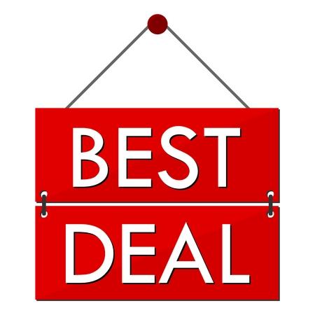 pledge: Best Deal Red Sign Illustration