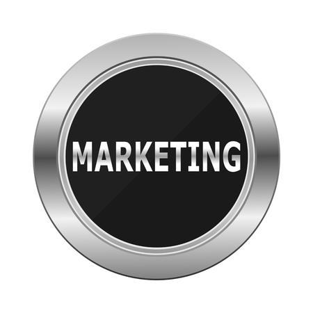 Marketing Silver Button Illustration