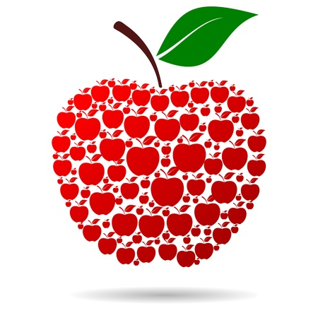 apple red: Apple of Apple red Illustration