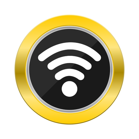 wi: Wi Fi Yellow Button