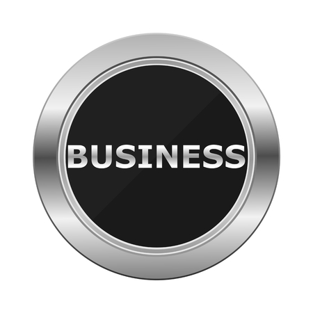 Business Silver Button Illustration