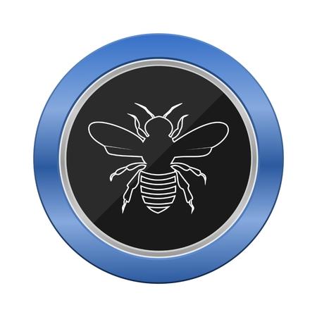 blue button: Bee Blue Button