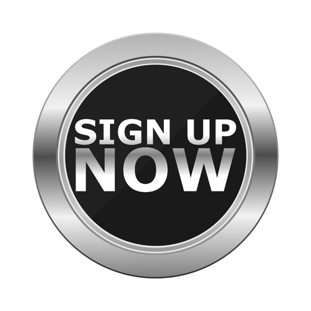 sign up: Sign Up Now Silver Button
