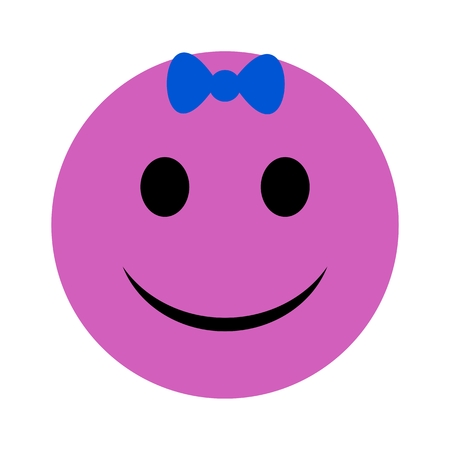 talkative: Simple Pink Smiley