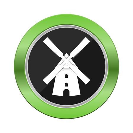 green button: Windmill Green Button