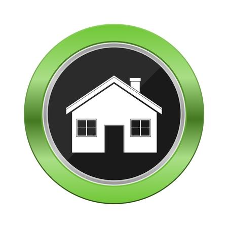 House Green Button