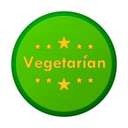 fruit and veg: Vegetarian Sign 5 stars Illustration