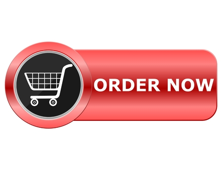 Order Now Red Button Stock Illustratie