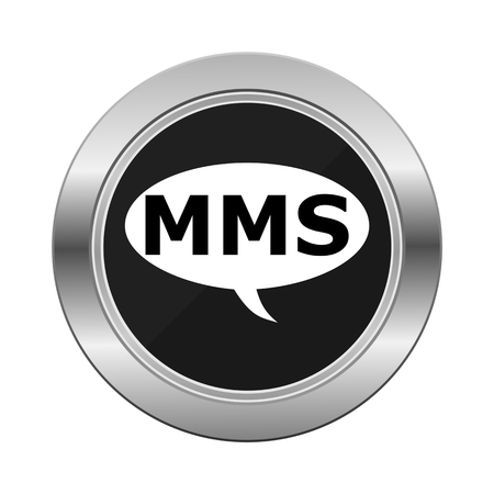 mms: MMS Silver Button Illustration