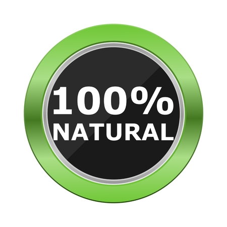 green button: 100 natural green button