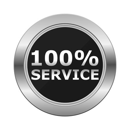 silver service: Best Service silver button