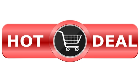 rectangle: Hot Deal Red Rectangle Illustration