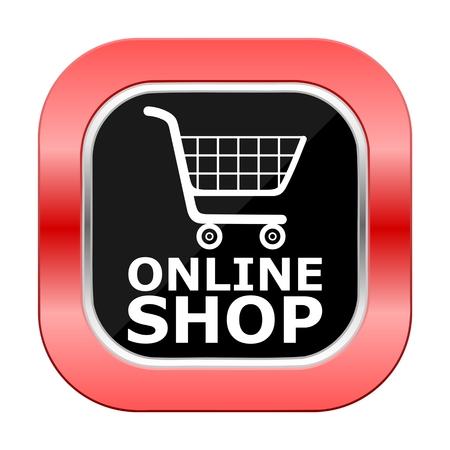 Boutique en ligne Place Rouge Bouton Vecteurs