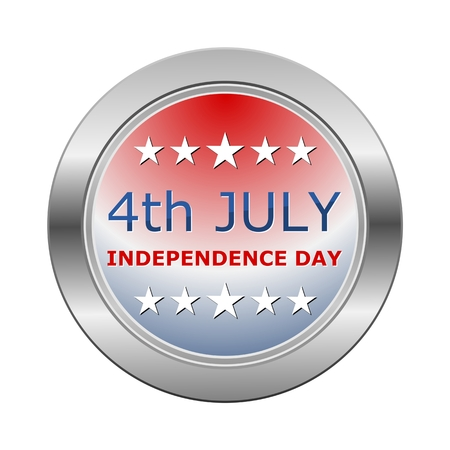 independance: 4th July Independence Day Silver Button