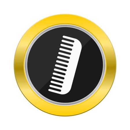 yellow black: Peinar Bot�n negro amarillo Vectores