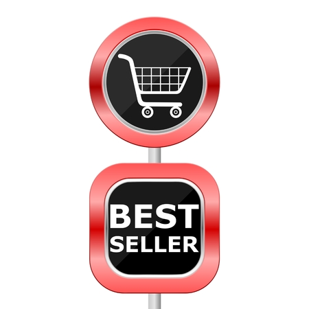 seller: Best Seller Traffic Sign Illustration