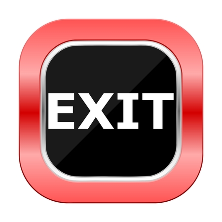 exit button: Exit Square Red Button