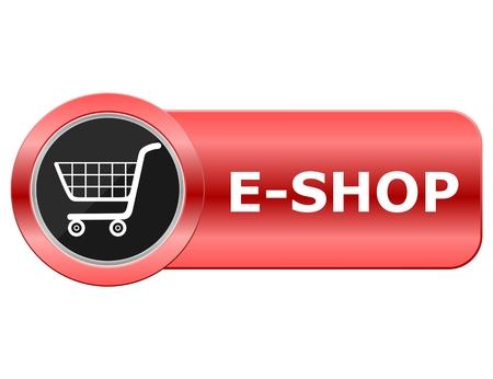 E Shop bouton rouge