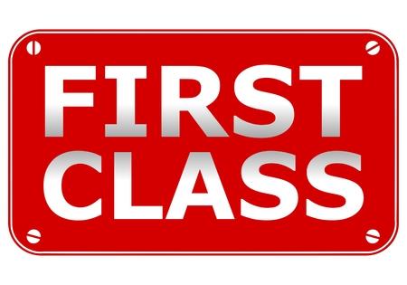 top class: First Class Plate