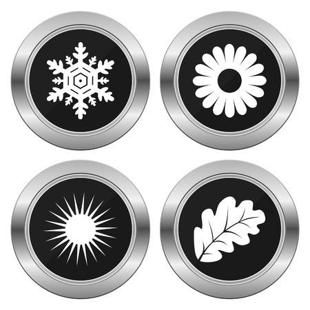 silver circle: Four Seasons Silver Circle Illustration