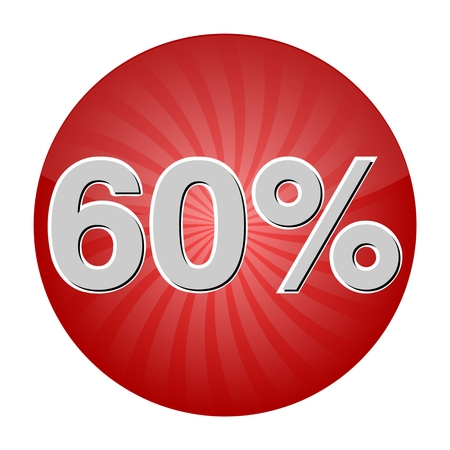 60: 60 Percent Discount Button