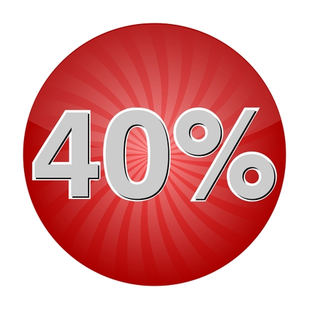 40: 40 Percent Discount Button