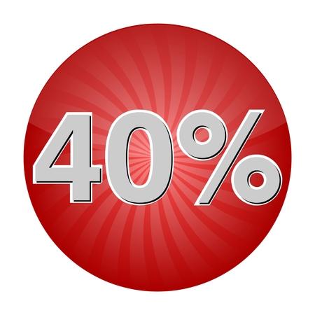 40: 40 Percent Discount Button