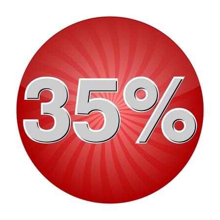 35: 35 Percent Discount Button