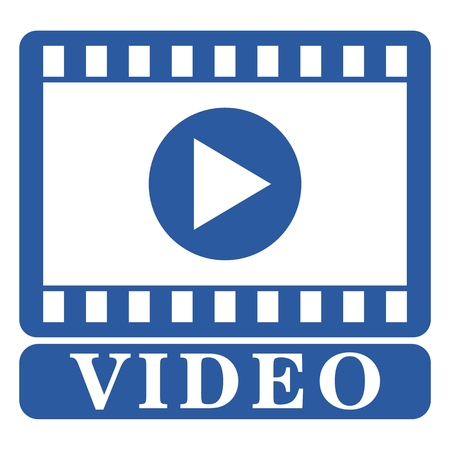 windows media video: Video internet media blue icon Illustration