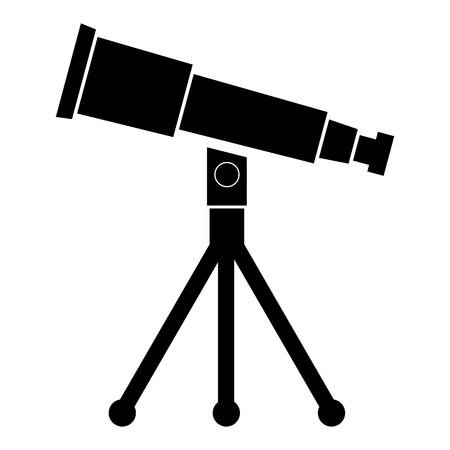 planetarium: Telescope black Icon Illustration