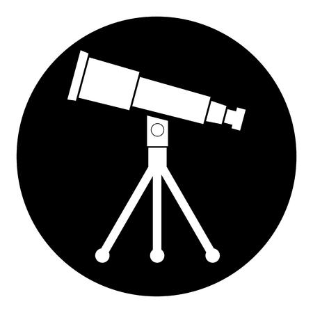 ocular: Telescope circle icon
