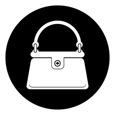 Icono de bolso de las mujeres Ilustración de vector